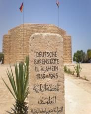 World War II Cemeteries in El Alamein from Alexandria port