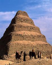 Ancient pyramids of Giza & Saqqara from Portsaid
