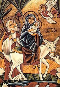 Holy family Steps in Egypt