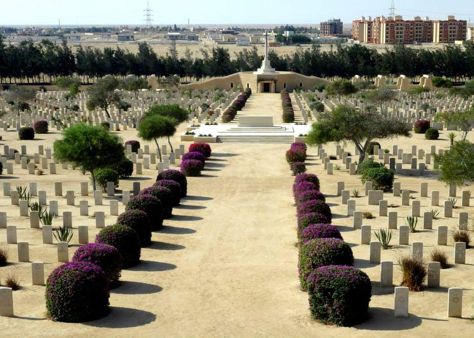 World War II Cemeteries in El Alamein from Alexandria port