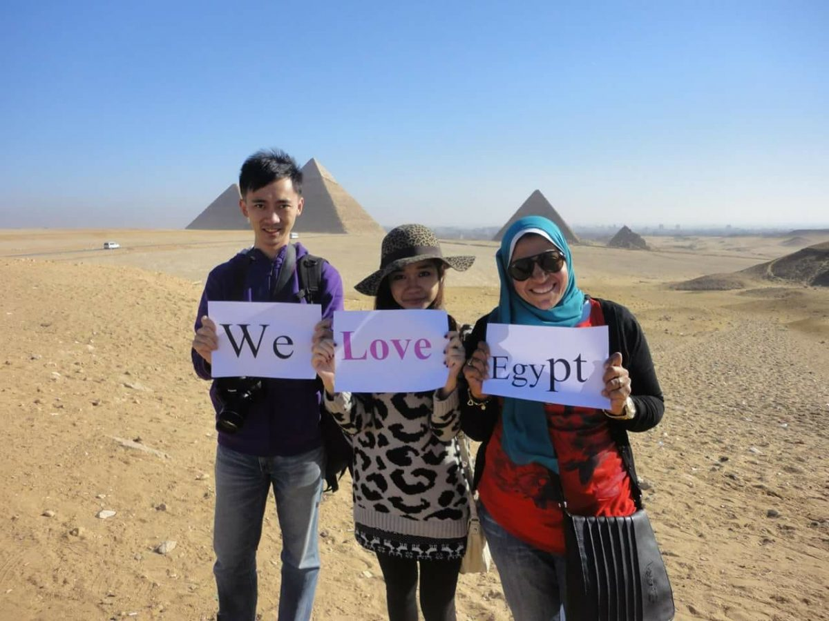 Giza pyramids and Egyptian museum